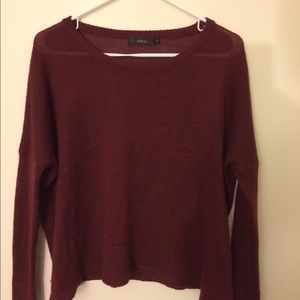 Dark red knit sweater from LF